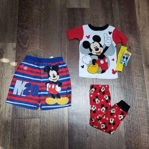 Boys Mickey Mouse 2pc. pj's w/swimtrunks sz.2T